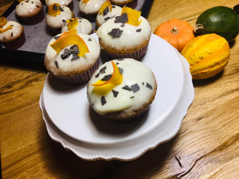 Kürbis Haselnuss Muffins