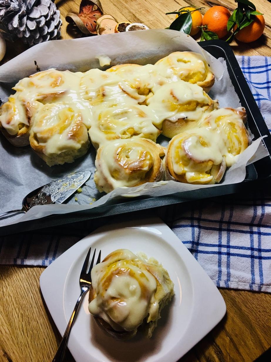 Clementinen Pudding Schnecken