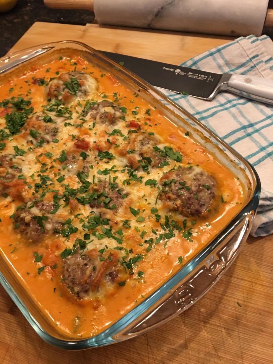 Feta Frikadellen in Tomaten CognacSauce