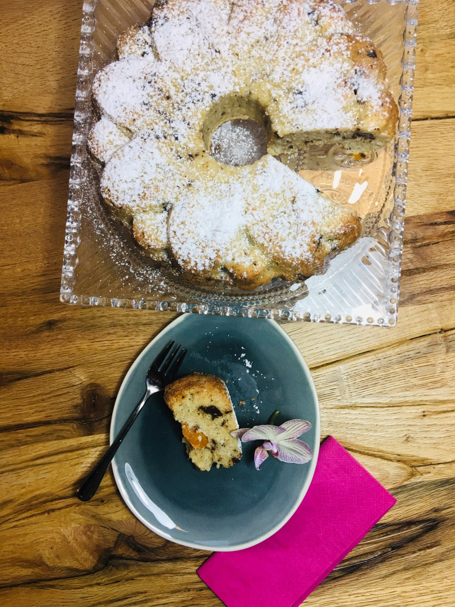 Kokos Schoko Kuchen mit Aprikosen LowCarb