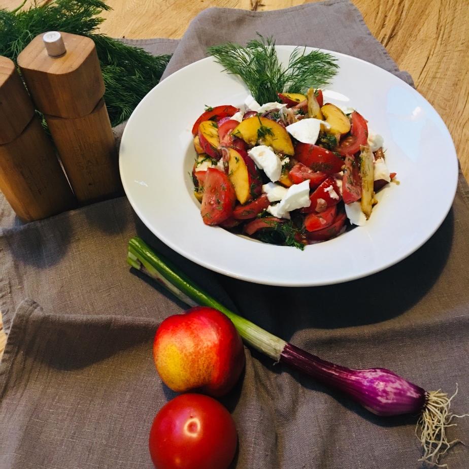Sündhaft leckerer Tomaten NektarinenSalat