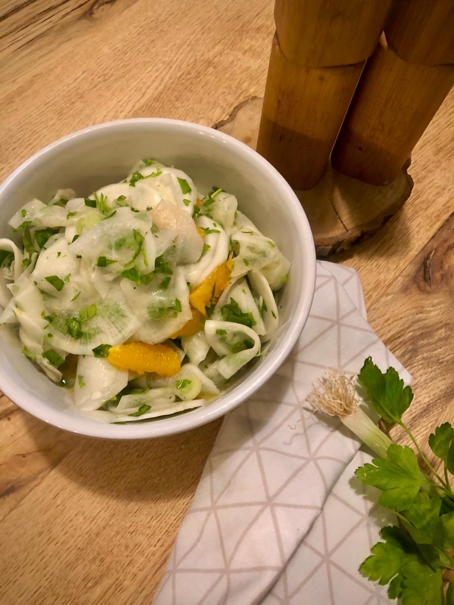 Rettich Salat mitOrange